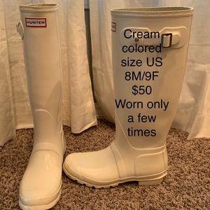 White/ Cream hunter boots